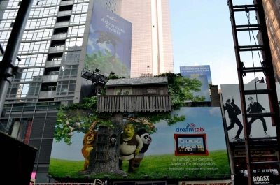 30ft Treehouse on Billboard for Periscope/Dreamworks