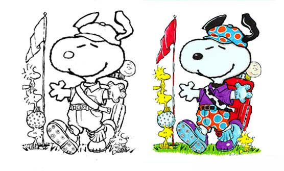 Snoopy Jolly Golfer Concept for St. Paul