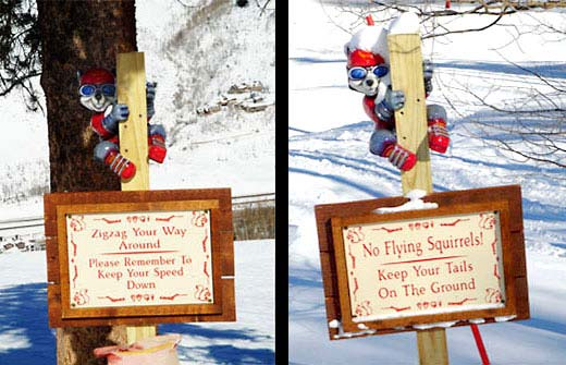 Safety Squirrel Sign for Vail Resort