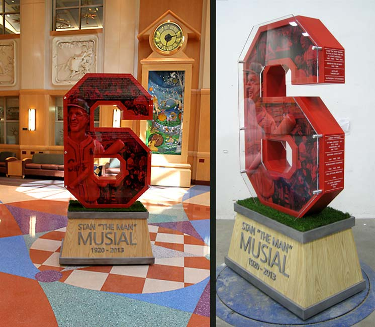 Stan Musial Donor Recognition Statue for Cardinal Glennon