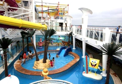 Nickelodeon Pool Deck Sculptures for Norwegian Cruise Lines / Nickelodeon
