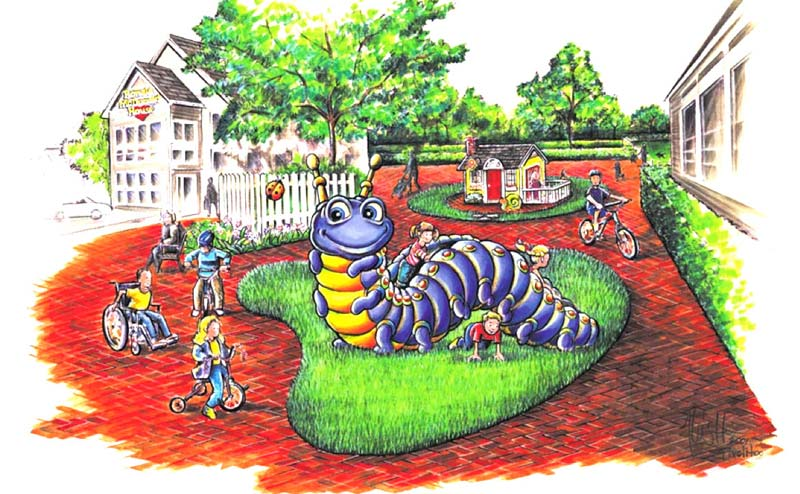 Caterpillar Climber Full-Color Rendering for Ronald McDonald House