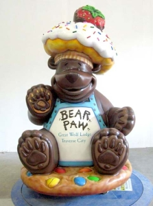 Custom 5ft Sprinkles the Bear Greeter at Great Wolf Resort