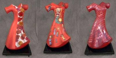 6ft Red Dress Statues for American Heart Association