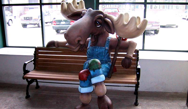 Custom Moose Bench at The Depot Waterpark