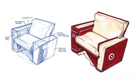 Ready. Sit. Read. Chair Concept for Target