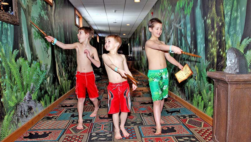 MagiQuest Forest Wallcovering for Great Wolf Resort