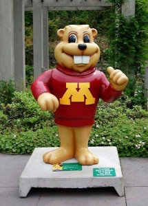5ft Goldy Gopher for University of Minnesota Landscape Arboretum