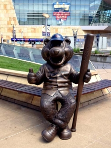 Custom Twin Cities 5ft TC Bear Mascot Bronze Statue