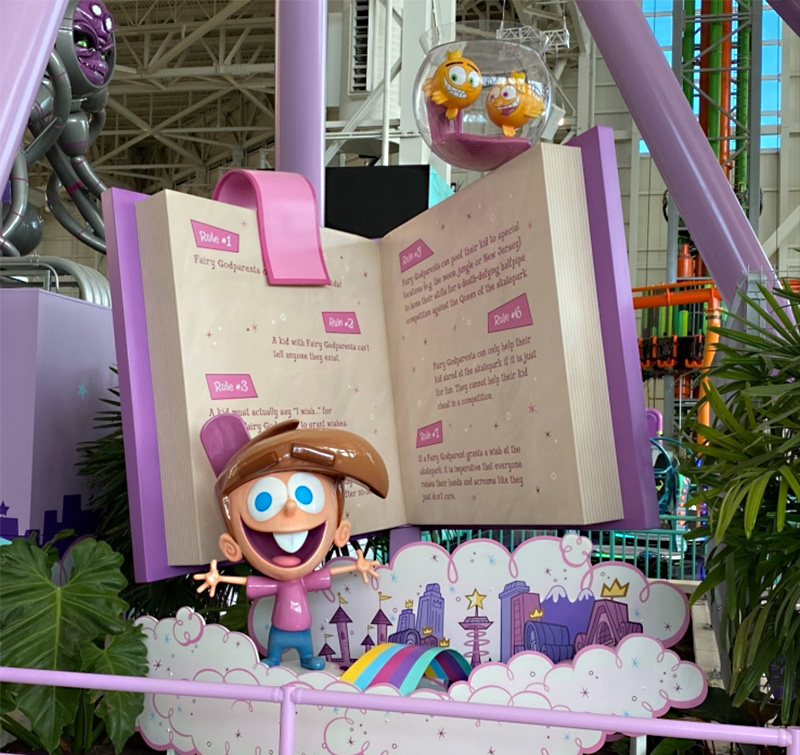 10' High Photo Opp Sculpture for FairlyOddparents Ride Entrance