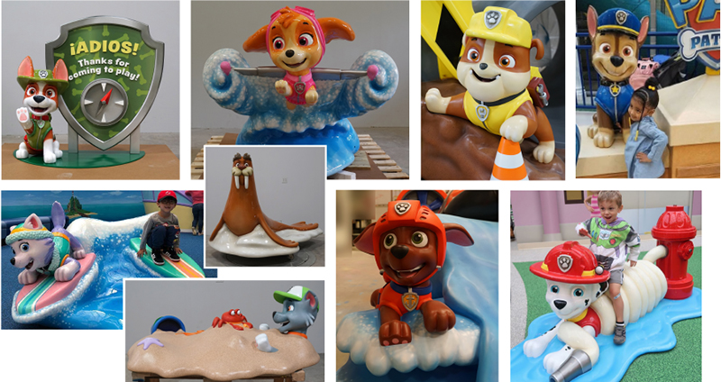 Paw Patrol Character Sculptures for the Adventure Bay Play Area
