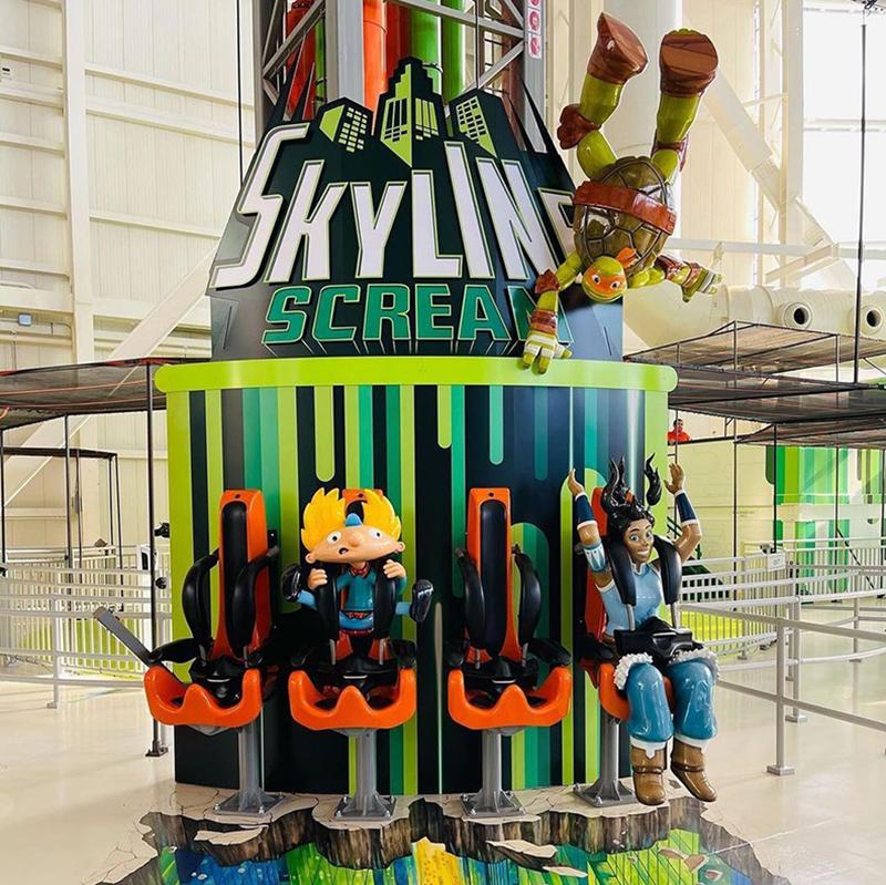 Skyline Screamer Nickelodeon Character Sculptures