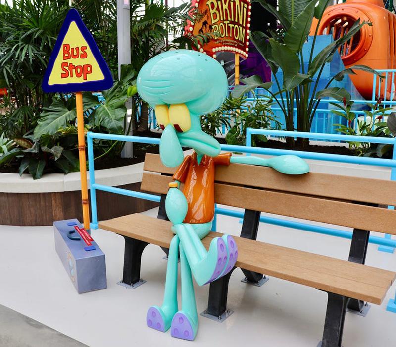 5' Squidward on Bench Photo Opp