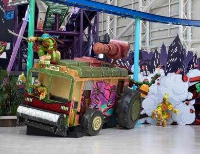 TMNT Character Sculptures and 18' Shellraiser Van