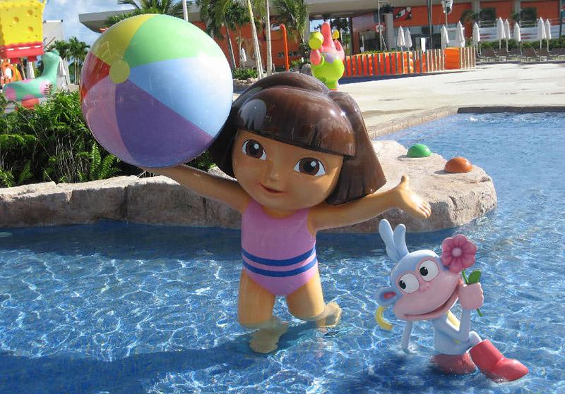Dora and Boots Sculptures