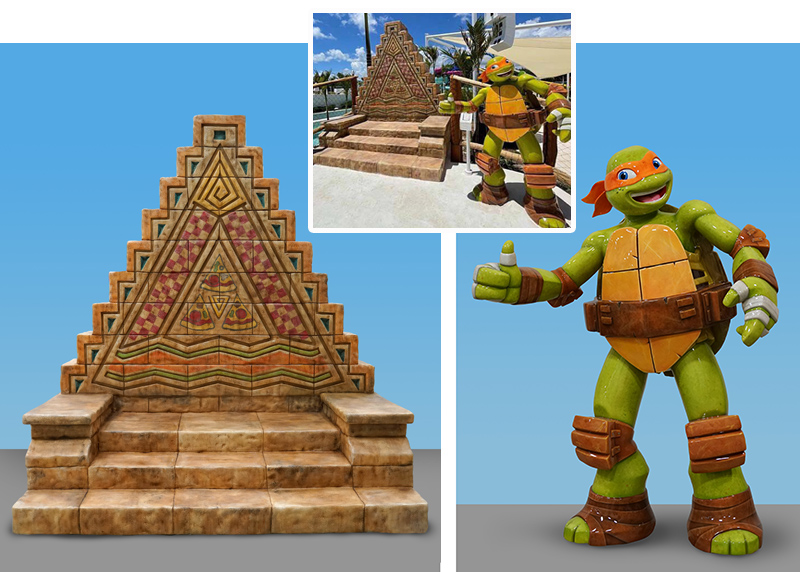 Mikey's Mighty Za Photo Opp Sculptures