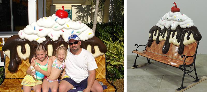 Custom Ice Cream Sundae Bench for Atlantis Resort