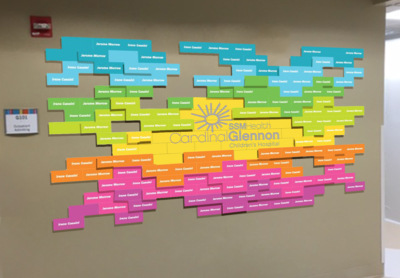 Donor Recognition Wall for Cardinal Glennon