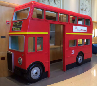 15 ft Double Decker Bus Interactive Play Feature for Cardinal Glennon