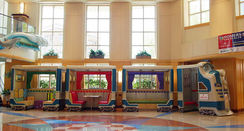 33 ft Train Interactive Play Feature for Cardinal Glennon