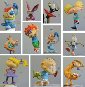 Classic Nickelodeon Character Sculptures for Comic-Con Booth
