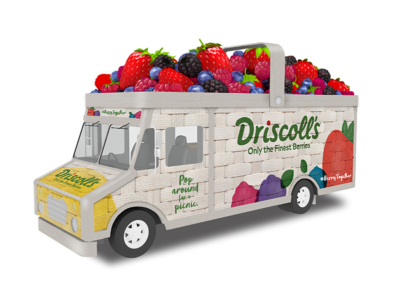Sculpted Berries for Driscoll's Berries Food Truck