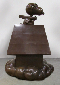 6ft Flying Ace Bronze Peanuts Statue