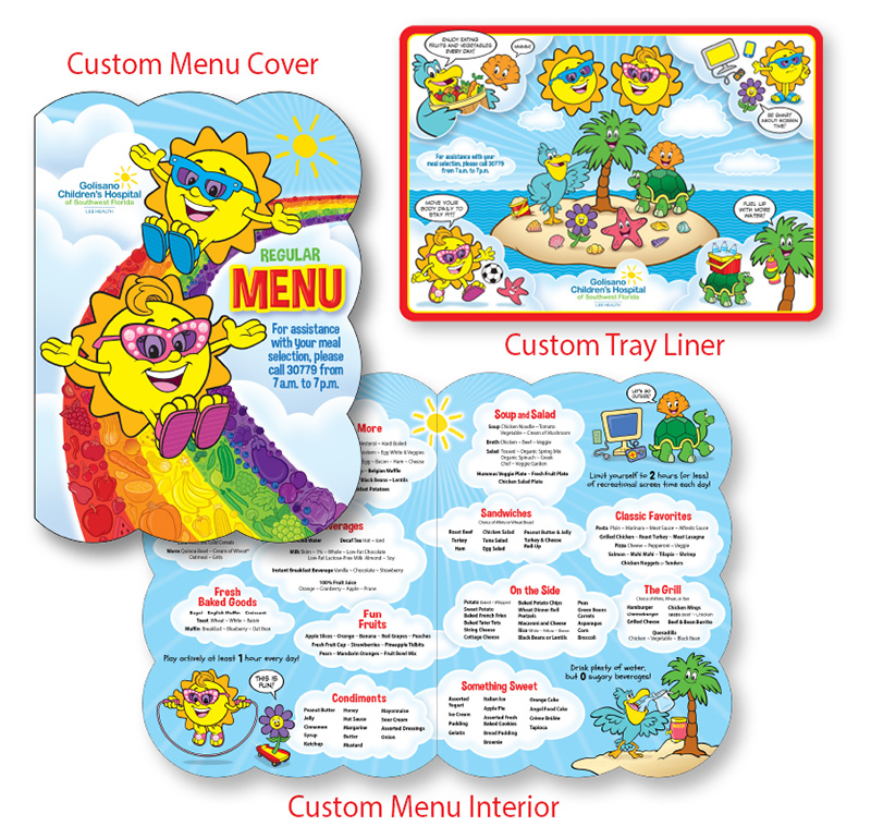 Themed Food Service Printed Materials