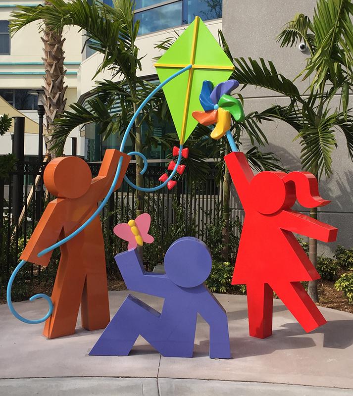 10' Front Entrance Sculpture for Golisano Children's Hospital of Southwest Florida