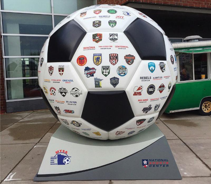 """8'-3"""" Soccer Ball Photo Opp"""