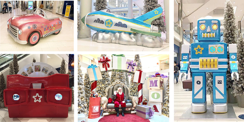 Oversize Toy Holiday Themed Photo Opp Sculptures