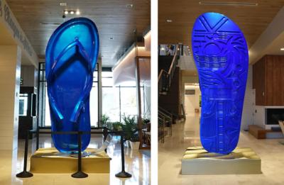 13' tall Margaritaville Flip-Flop and Pop Top Photo Opp Sculpture