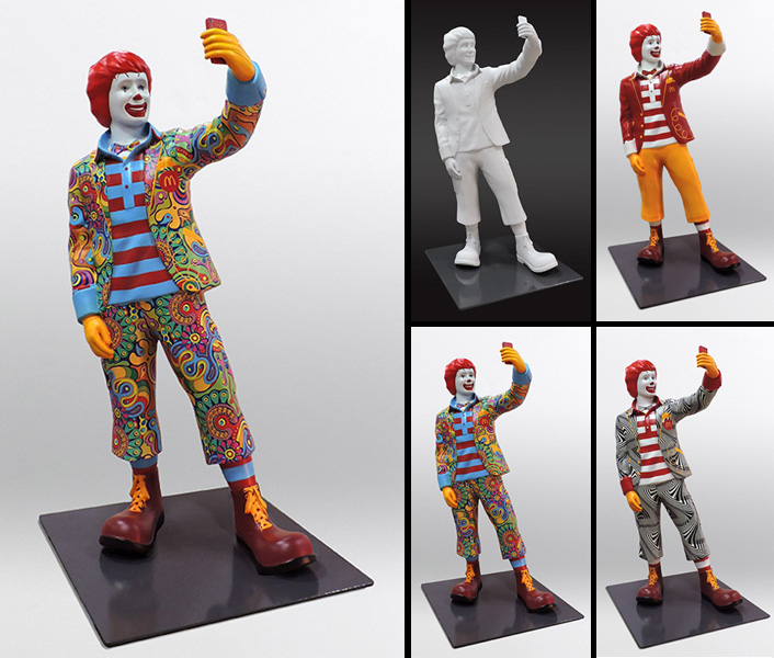 Custom 6ft Selfie Ronald Statue for McDonald's