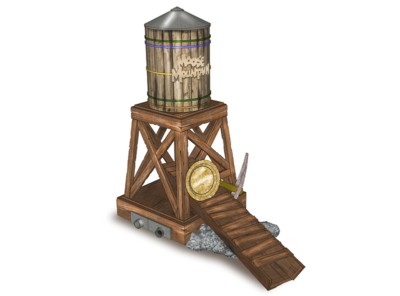 7 ft. Water Tower Mini-Golf Feature