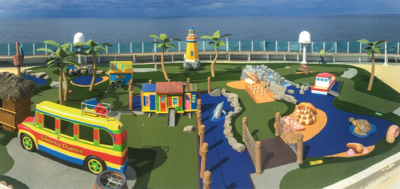 Caribbean Themed Mini-Golf Features for Cruise Ships