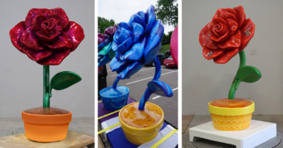 """""""Roseville In Bloom"""" Themed Statues"""