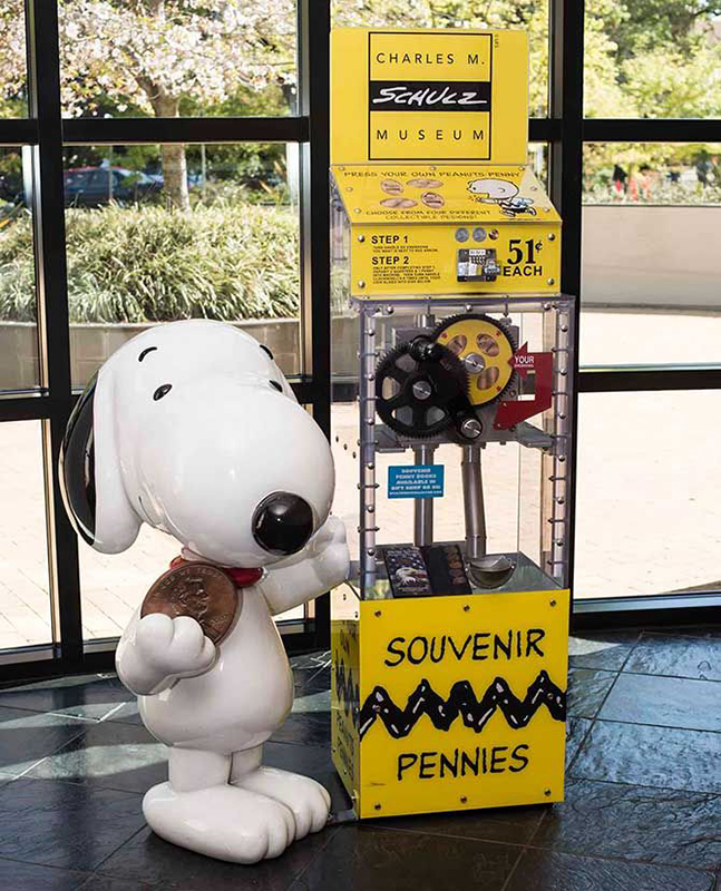 4' Snoopy Sculpture for Souvenir Pennies Machine Photo Opp