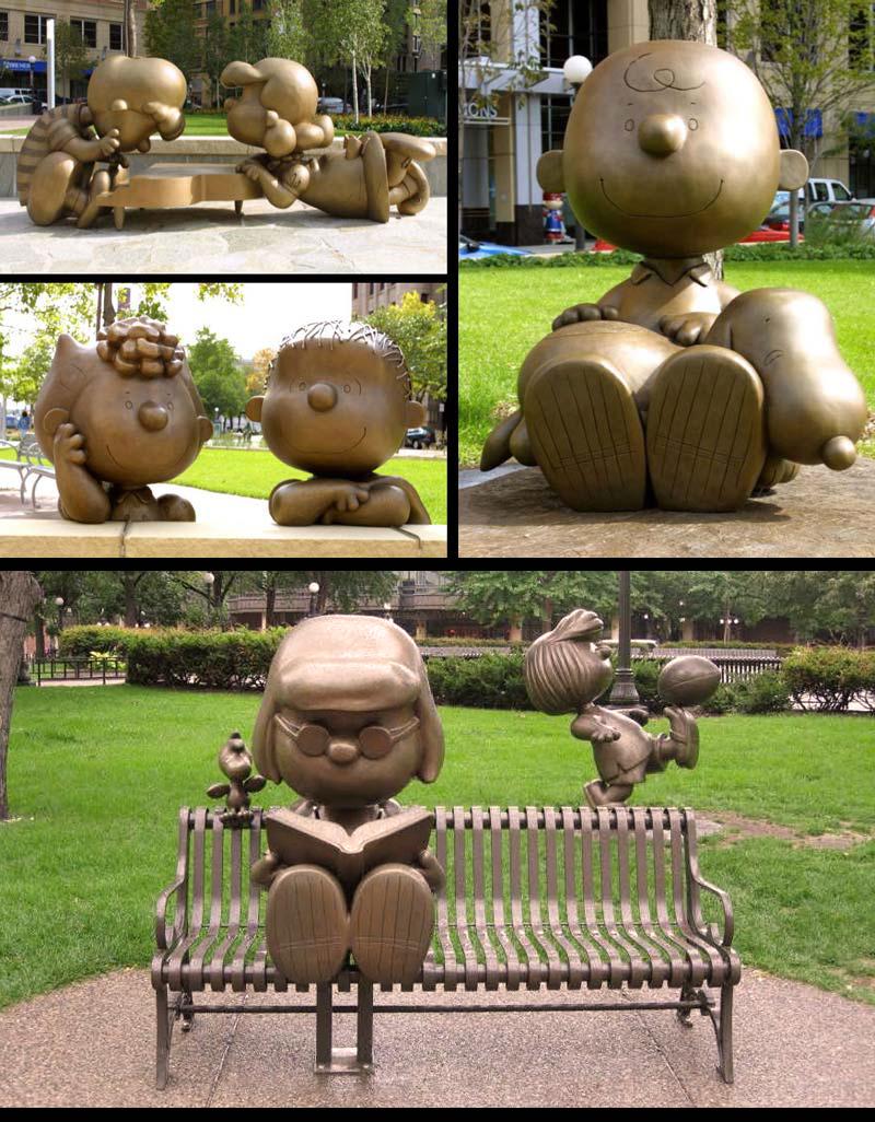 5ft Peanuts Vignette Bronze Statues