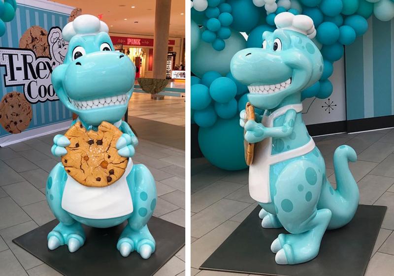 5' T-Rex Cookie Mascot Sculpture Photo Opp