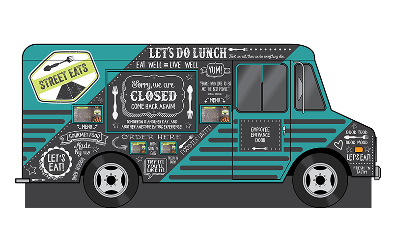 """Themed """"Food Truck"""" for Verizon Corporate Headquarters"""